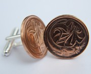 Australian 2 Cent Coin Cufflinks