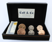 Australian Coin Cufflinks - 3 Pair Set