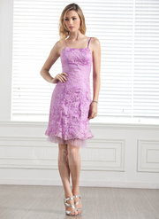 Charmeuse Purple Fancy Bridesmaid Dress