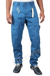 Stylish Mens Designer Blue Chinos offered by ETO Jeans