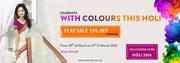 Special Holi Storewide Sale Flat 15% Off