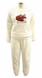 Fox Shaggy Fleece Twosie Ladies Pajama Set