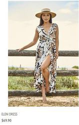 Exclusive cut,  stylish Indiana maxi dress available at Alexandnia.com