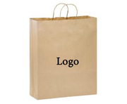 Brown Kraft Paper Shopper |  PapaChina
