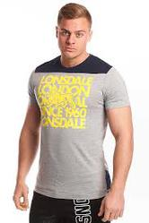 Lonsdale Compton Tee (Ash Marle) - Mens