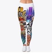 Stylish Designed Tattooed Leggings  For women