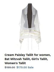 Buy the most sought after tallit for women only at GalileeSilks!