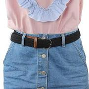 2 Pack No Buckle Stretch Belt For Women/Men Elastic Waist Belt Up To 4