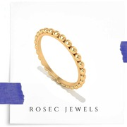 Solid 14kt Gold Ring,  Valentine Gift