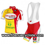 Maillot cyclisme Wallonie Bruxelles 2013